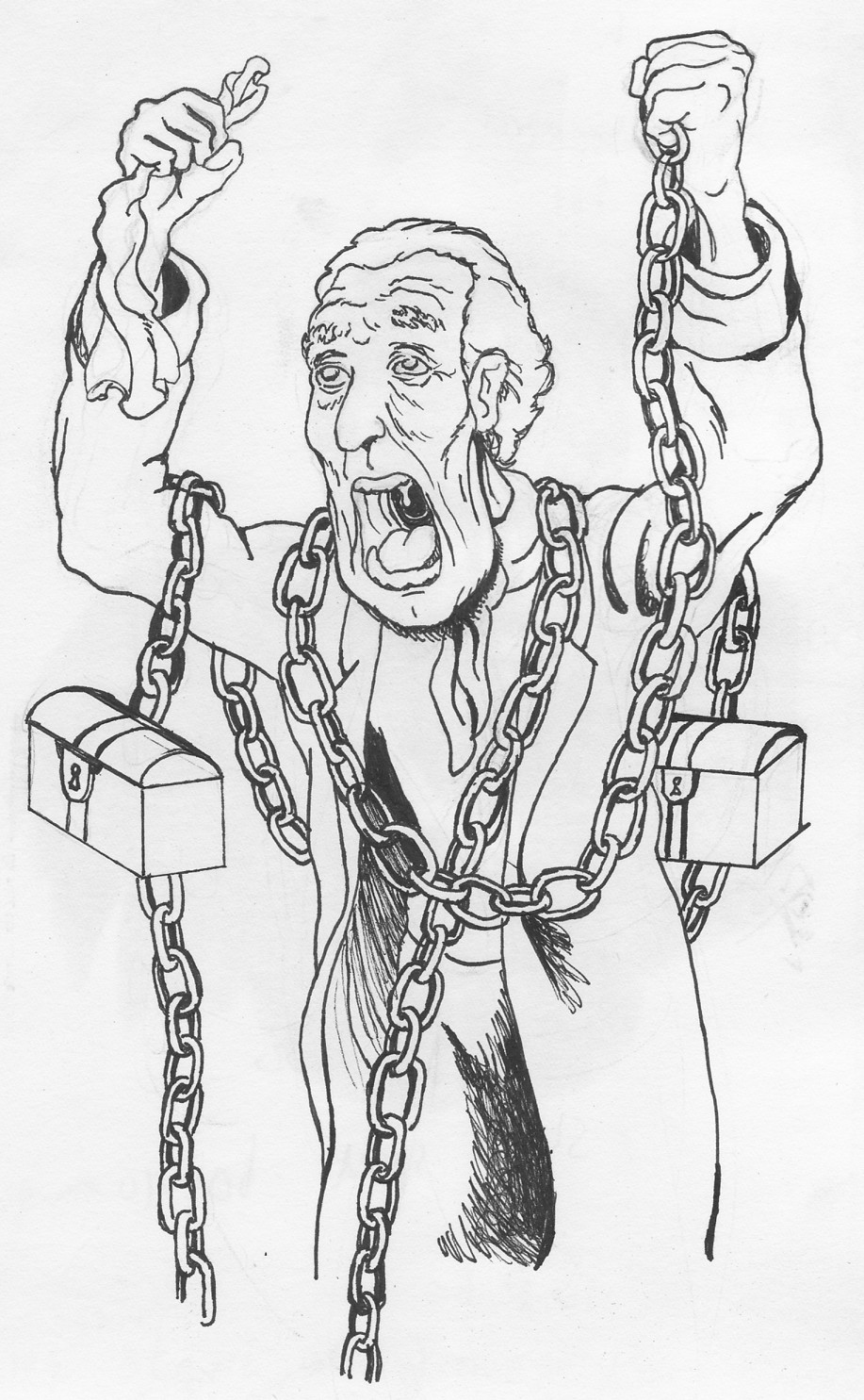 a christmas carol coloring pages | Christmas Carol Jacob Marley Quotes. QuotesGram